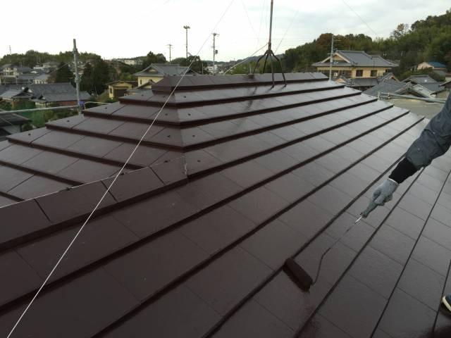 大阪府貝塚市 Y様邸 外壁塗装・屋根塗装・基礎塗装・付帯部塗装 (4)