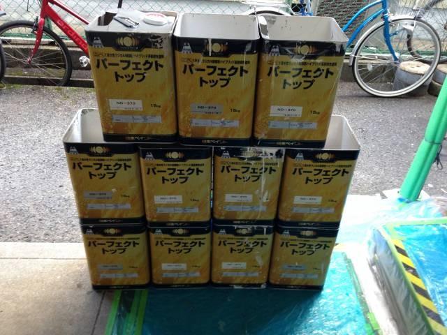 大阪府堺市 Wマンション 外壁塗装・付帯部塗装・廊下、階段 長尺シート貼り (5)