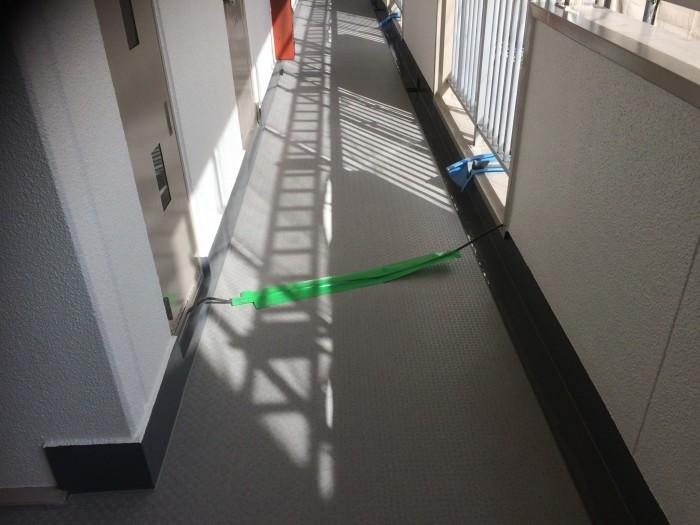 大阪府堺市 Wマンション 外壁塗装・付帯部塗装・廊下、階段 長尺シート貼り (4)