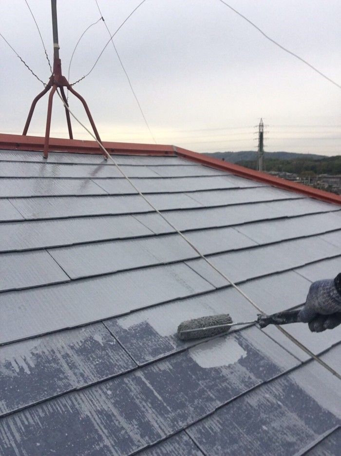 奈良県北葛城郡 S様邸 外壁塗装・屋根塗装・付帯部塗装・防水工事 (4)