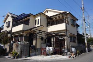 大阪府富田林市 Ⅰ 様邸 外壁塗装・屋根塗装 (1)