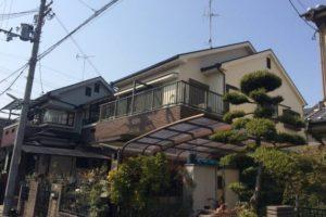 大阪府八尾市 H様 外壁塗装・屋根塗装・付帯部塗装 (1)