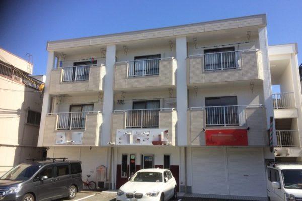 大阪府堺市 Wマンション 外壁塗装・付帯部塗装・廊下、階段 長尺シート貼り (1)