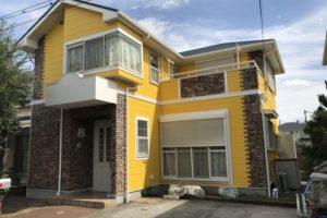 大阪府堺市 Y様邸 外壁塗装・屋根塗装・付帯部塗装 (1)