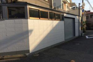 大阪府八尾市 S社 外構ブロック塀塗装 (1)