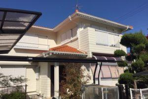 大阪府堺市 T様邸 外壁塗装・屋根塗装・付帯部塗装・雨樋新設 (1)
