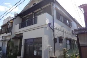 大阪市東住吉区 S様邸 外壁塗装・付帯部塗装・防水工事 (1)
