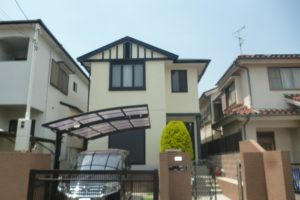 大阪府箕面市 Ⅰ様邸 外壁塗装・屋根塗装 (1)