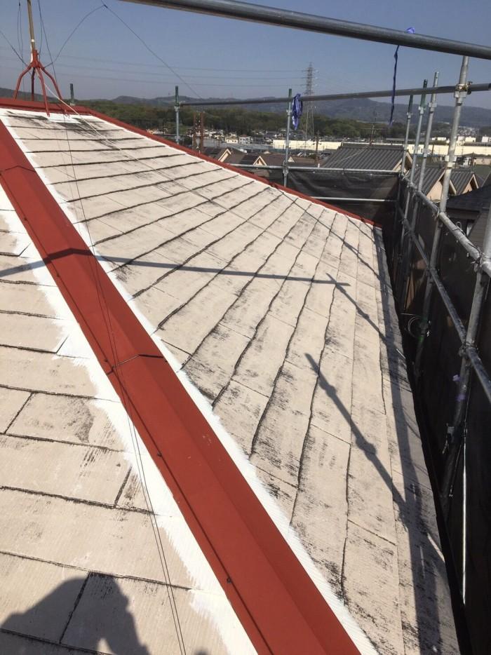 奈良県北葛城郡 S様邸 外壁塗装・屋根塗装・付帯部塗装・防水工事 (3)